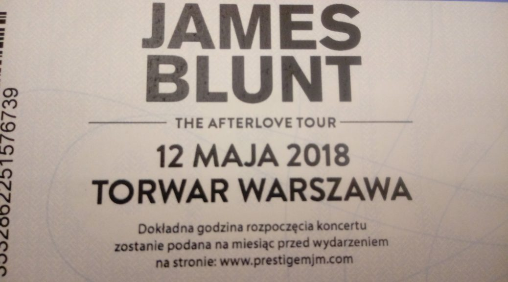 Koncert Jamesa Blunta w Warszawie